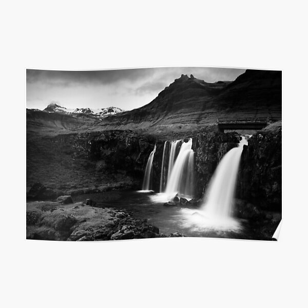 Iceland in B&W Poster
