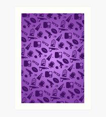 Warehouse 13 Case (Purple) Art Print