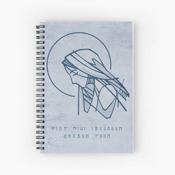 Virgin Mary portrait illustration Spiral Notebook