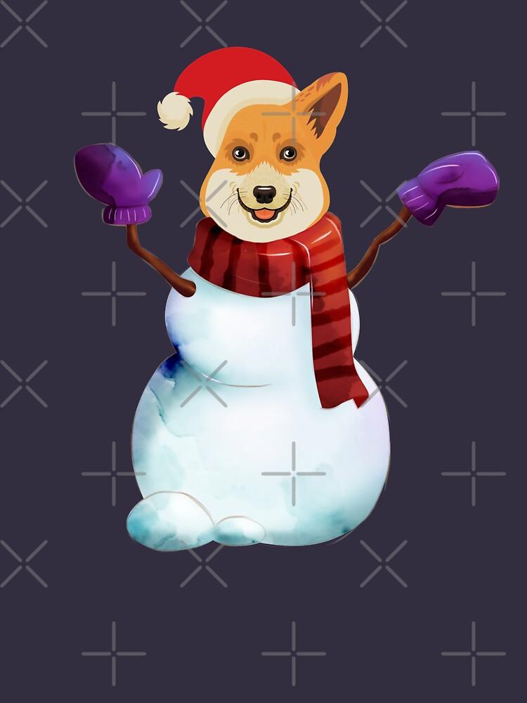 Corgi Snowman by Corgiworld