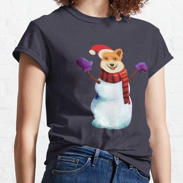 Corgi Snowman Classic T-Shirt