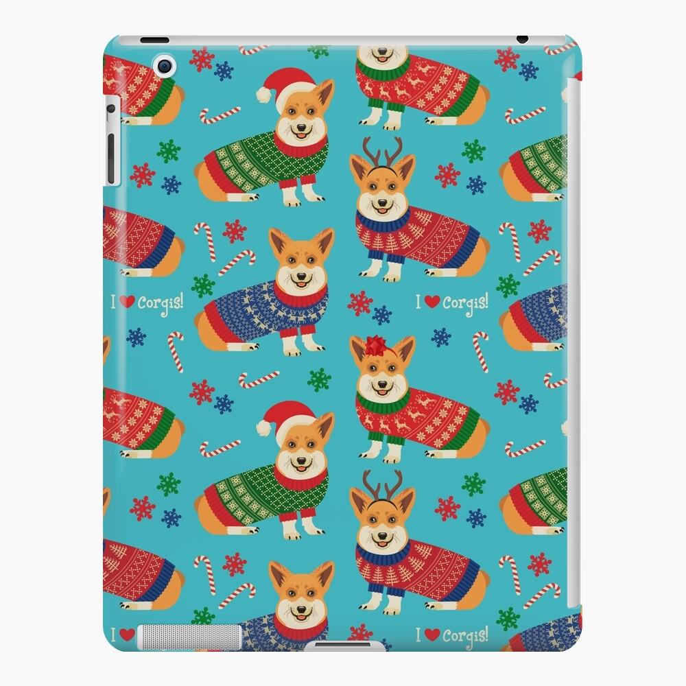 Merry Corgmess Teal iPad Case & Skin
