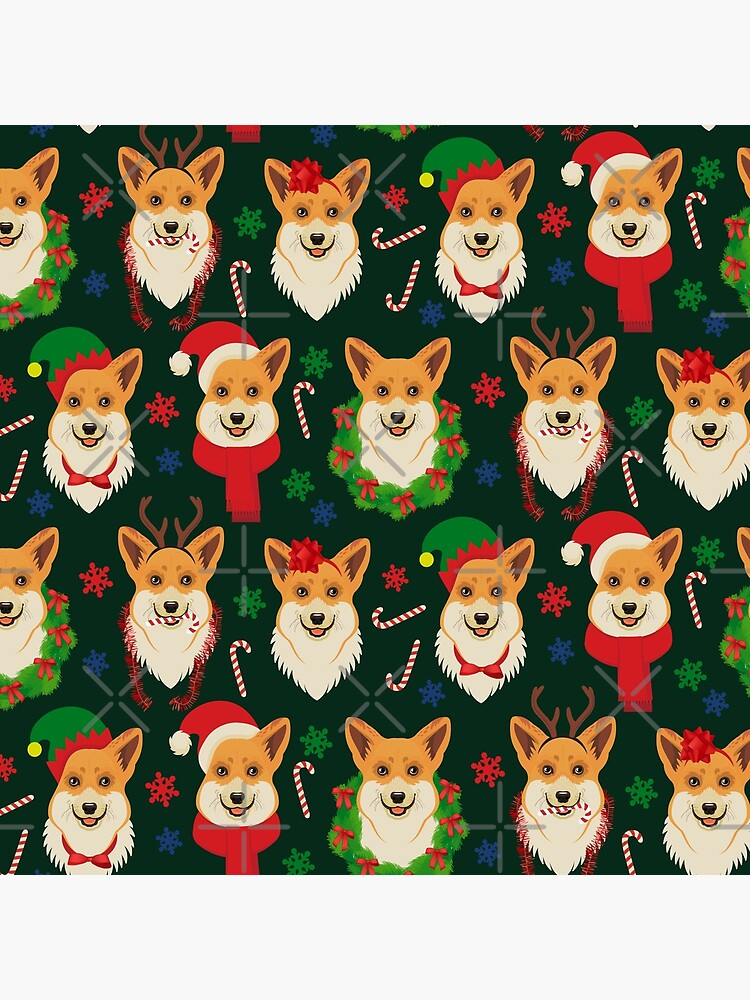 Merry Corgmess - dark green by Corgiworld