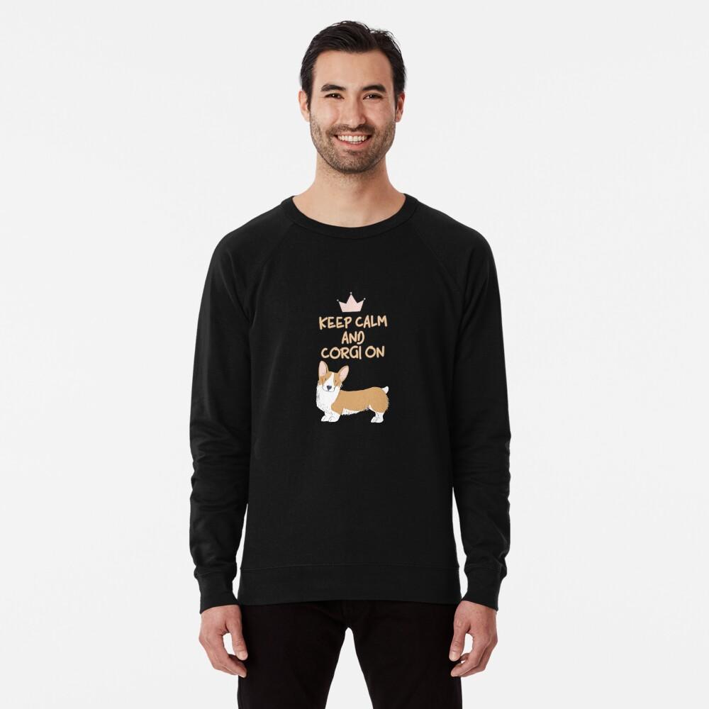 Keep Calm And Corgi On Lightweight Sweatshirt