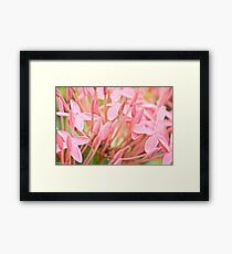 You have snow I have flowers...Got Featured Work Framed Print