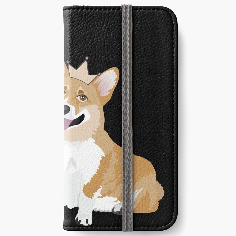Keep Calm and Hug Your Corgi - black  iPhone Wallet