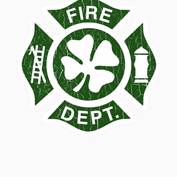Irish Fire Department (Vintage Distressed) by robotface
