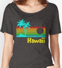 Vintage 80s Hawaii (Distressed Design) Women's Relaxed Fit T-Shirt