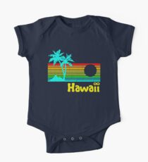 Vintage 80er Jahre Hawaii (Distressed Design) Baby Body Kurzarm