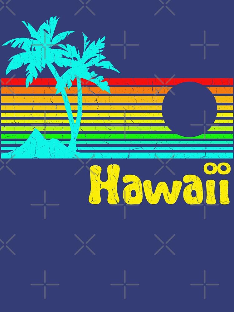 TShirtGifter presents: Vintage 80s Hawaii (Distressed Design) | Unisex T-Shirt