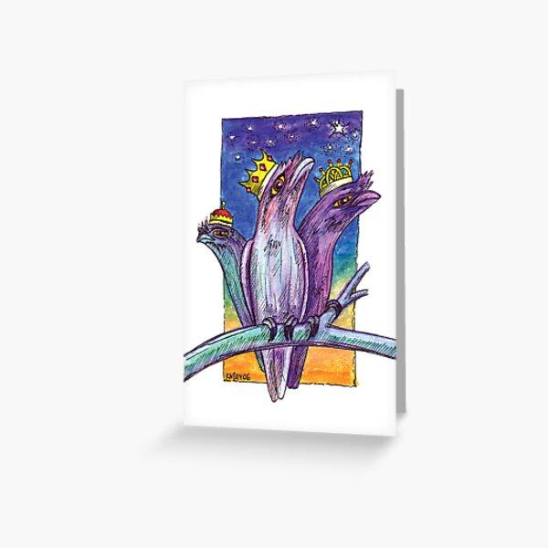 kmay xmas frogmouth kings Greeting Card