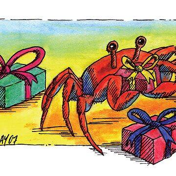 kmay xmas crab with pressies by amayzing
