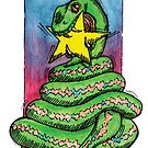 kmay xmas green snake star by Katherine May