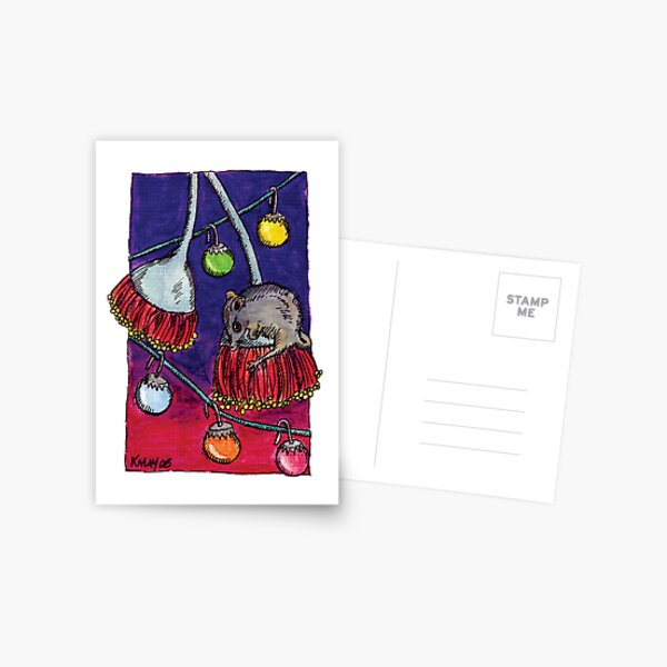 kmay xmas honey possum Postcard