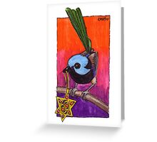 kmay xmas fairy wren star Greeting Card