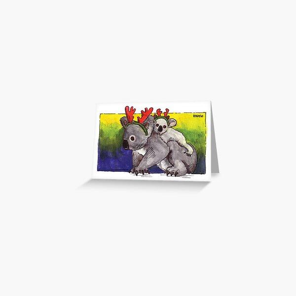 kmay xmas koala deer Greeting Card