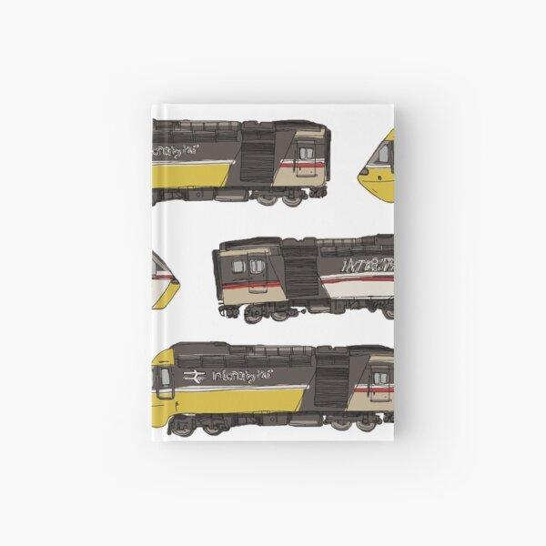 Intercity 125 train pattern Hardcover Journal