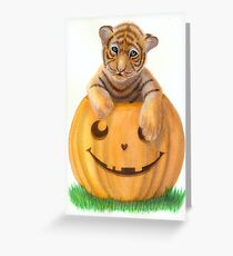 Halloween Tiger Cub  Greeting Card