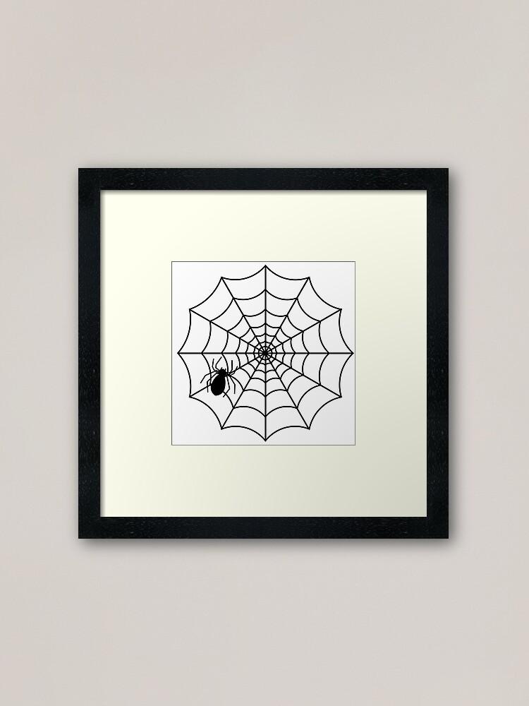 Spider Web Framed Art Print By Riwantika24 Redbubble