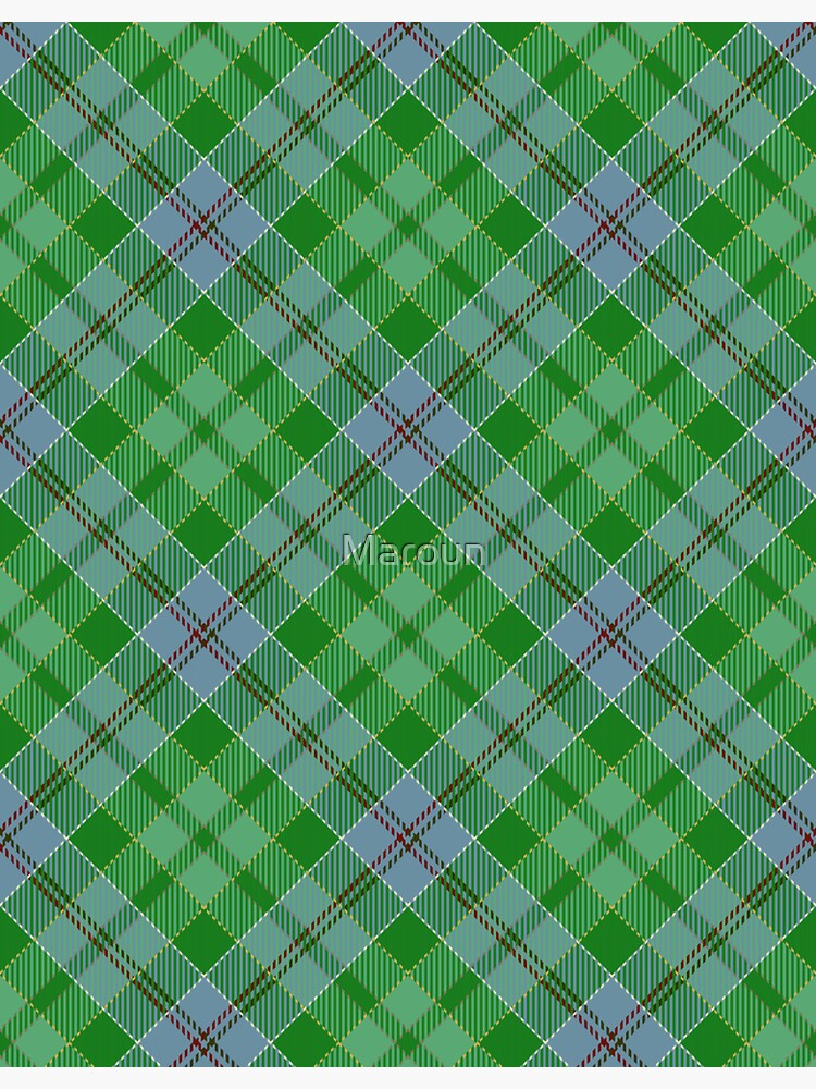 Green and blue plaid pattern by Maroun