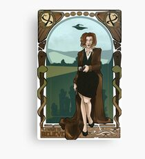Dana Scully Art Nerdveau Canvas Print