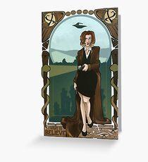 Dana Scully Art Nerdveau Greeting Card