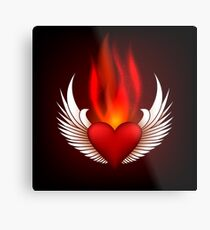 Burning Heart Metal Print