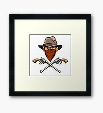 Bandit wit a Guns Framed Print
