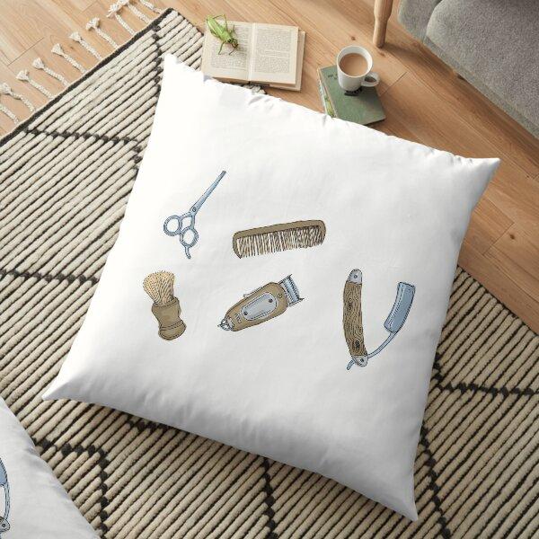 Barbers Tools Floor Pillow