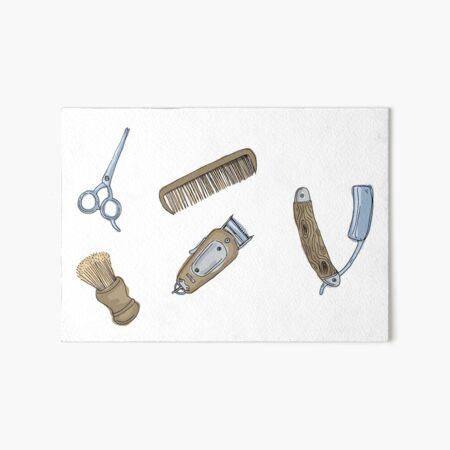 Barbers Tools Art Board Print