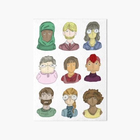 All The People Art Board Print