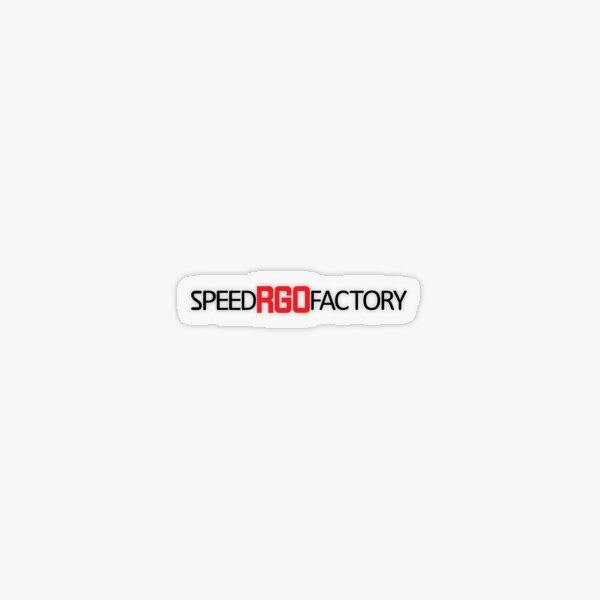 Speed Factory RGO Loudstyle Sticker transparent