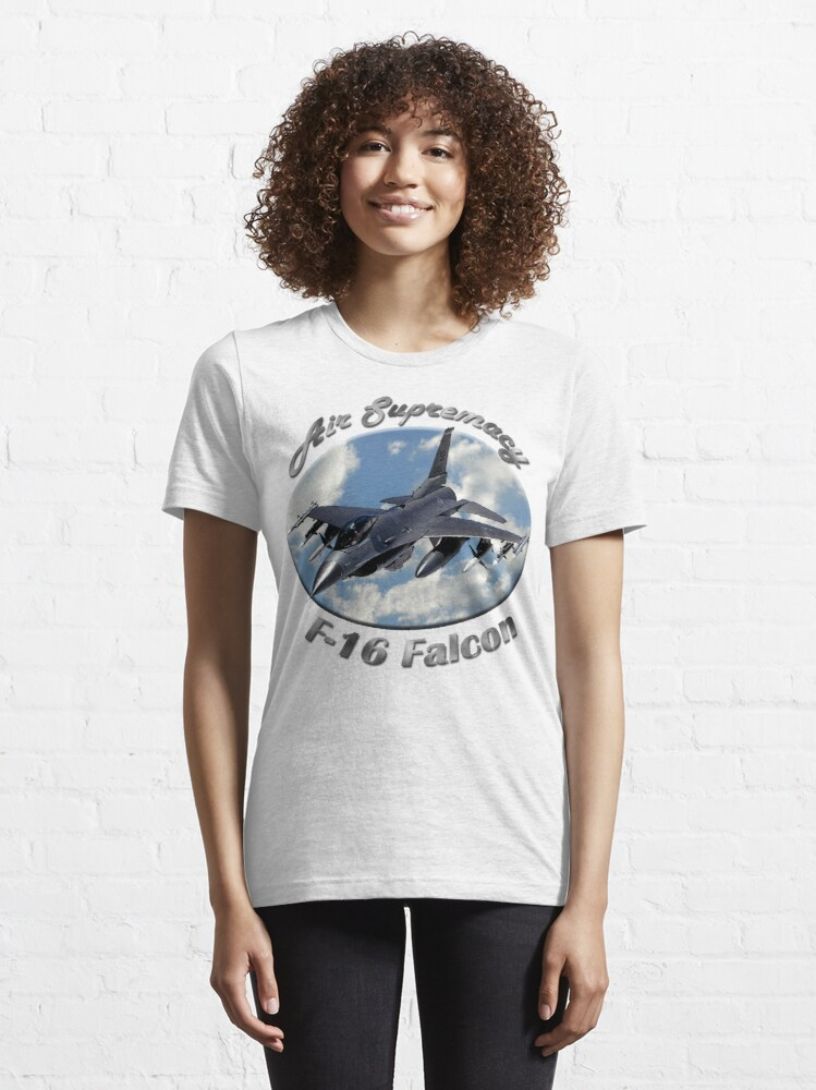 Alternate view of F-16 Falcon Air Supremacy Essential T-Shirt