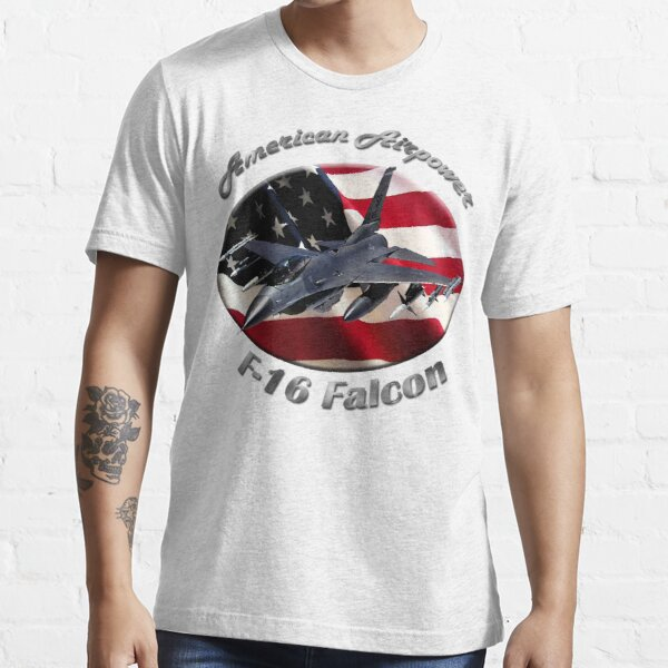 F-16 Falcon American Airpower Essential T-Shirt