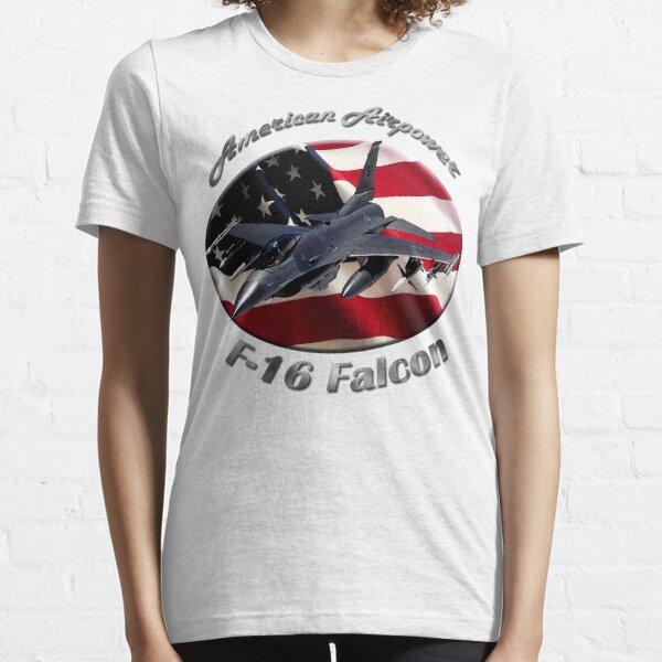 F-16 Falcon American Airpower Essential T-Shirt