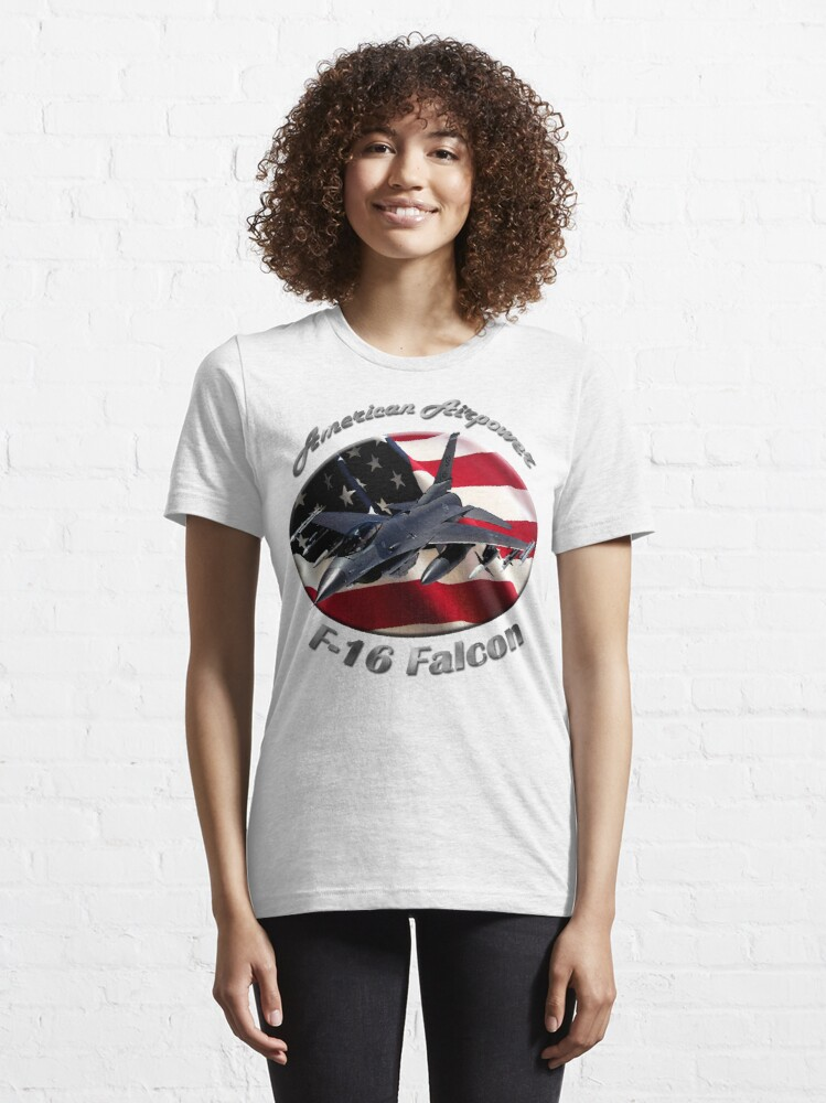 Alternate view of F-16 Falcon American Airpower Essential T-Shirt
