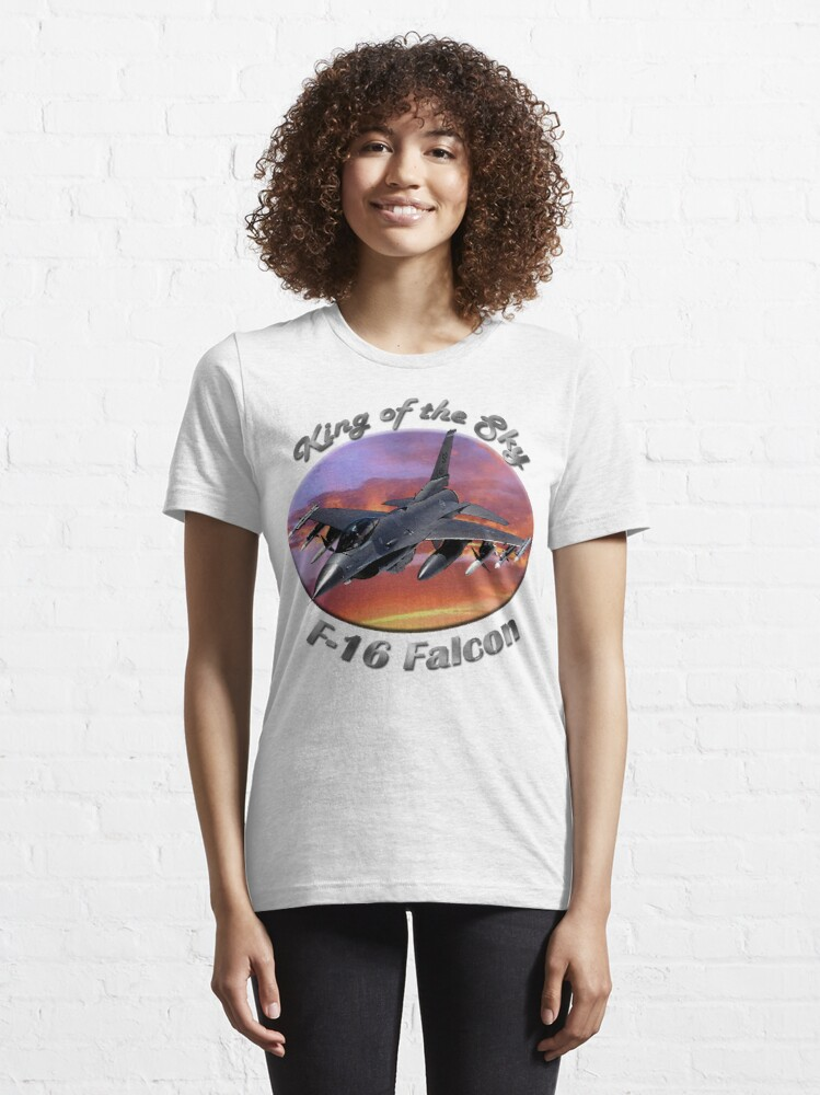 Alternate view of F-16 Falcon King Of The Sky Essential T-Shirt