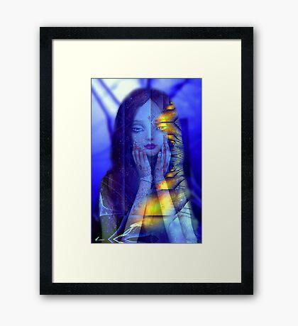 Godess in blue  Framed Print
