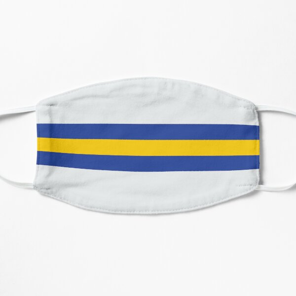 Leeds White Blue & Yellow Colours Bar Design Mask