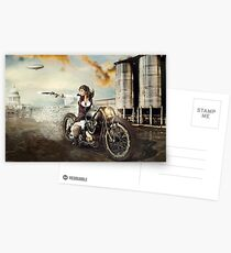 The Steampunk Warrior  Postcards