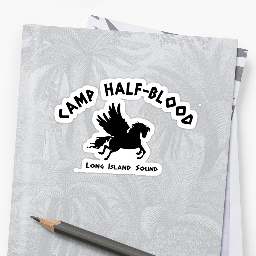 Quot Camp Half Blood Full Camp Logo Quot Sticker By Andyhex