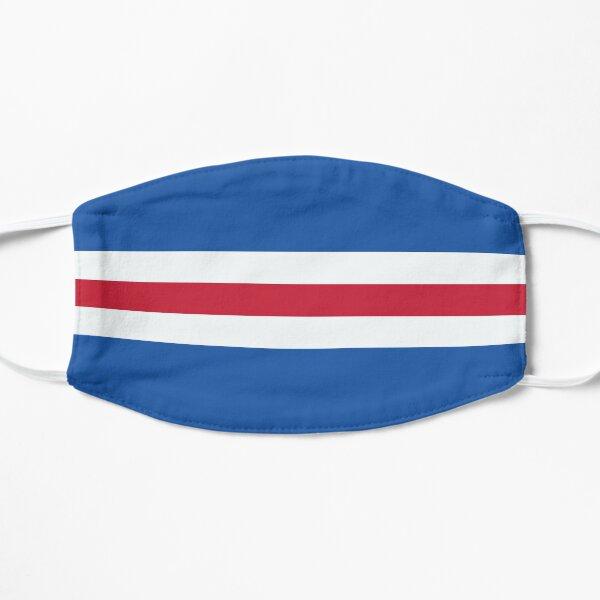 Glasgow Rangers Colours Bar Design Flat Mask