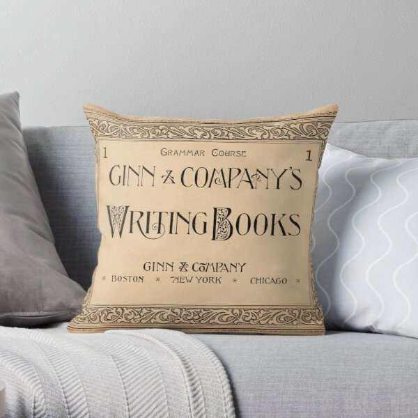 Ginn and Company Writing Books, 1892 Throw Pillow