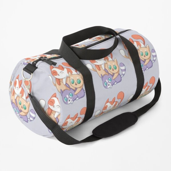 three cute cats playing Duffle Bag