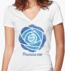 Promise Me Women's Fitted V-Neck T-Shirt