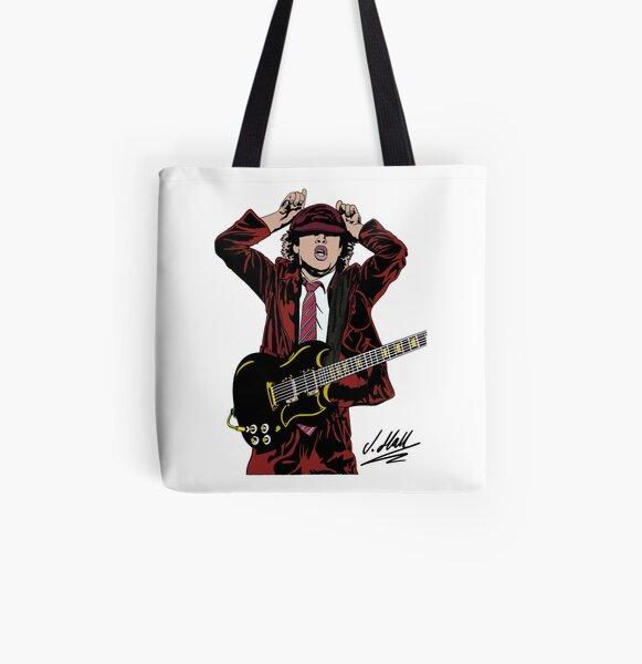 ANGUS AC / DC Bolsa estampada de tela