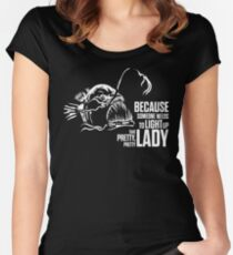 Light up that lady Women's Fitted Scoop T-Shirt