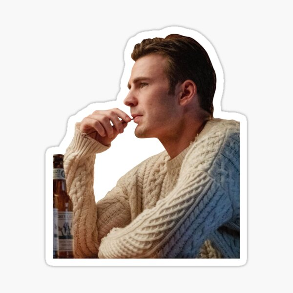 """Chris Evans: Ransom from """"Knives Out"""" Sticker"""