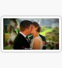 Booth & Bones Wedding Sticker