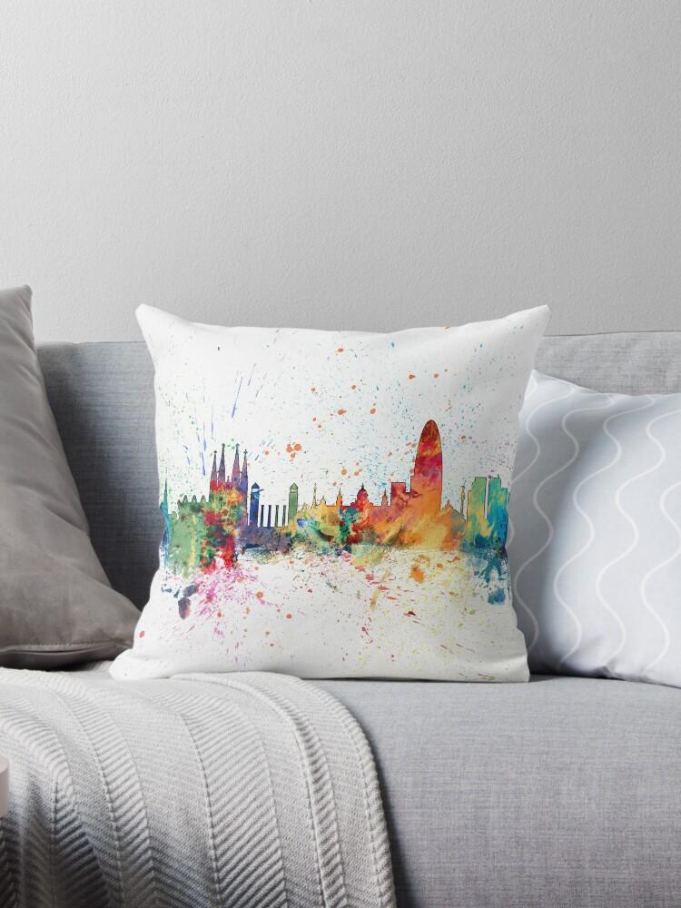 «Skyline de Barcelona España» de Michael Tompsett